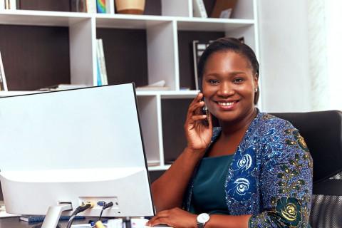 woman at work photo