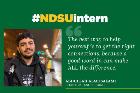Abdullah Almosalami #NDSUintern Spotlight