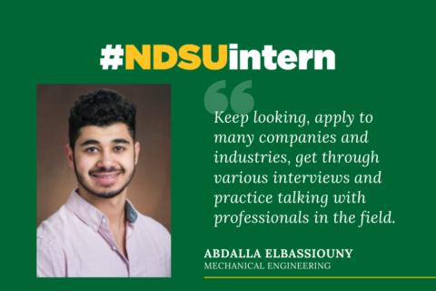 Abdalla Elbassiouny #NDSUintern Spotlight