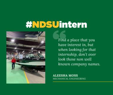 Aleesha #NDSUintern Spotlight