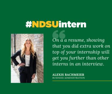 Alexis #NDSUintern Spotlight