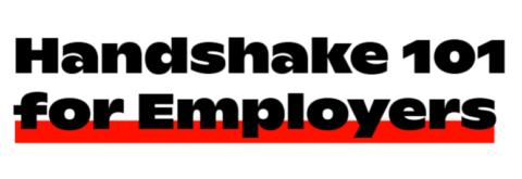 handshake 101 for employers