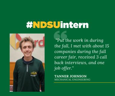 Tanner J #NDSUintern Spotlight