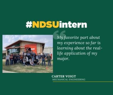 Carter #NDSUintern Spotlight