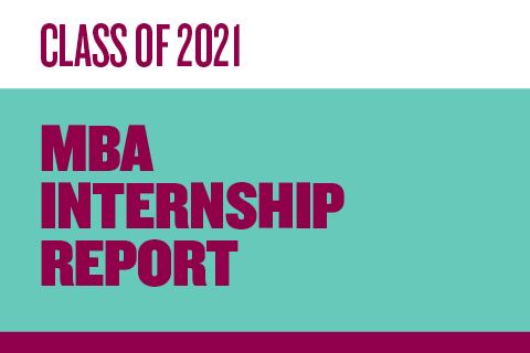 2021 MBA Internship Report