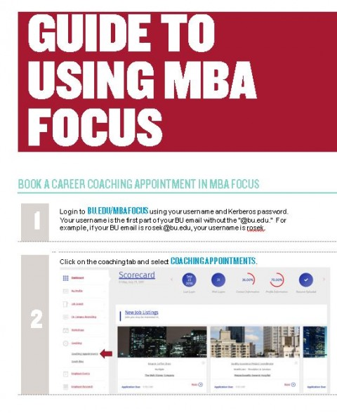 MBA Focus User Guide