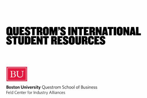 Questrom's International Student Resources