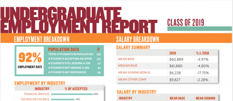 2019 Undergraduate Employment Report