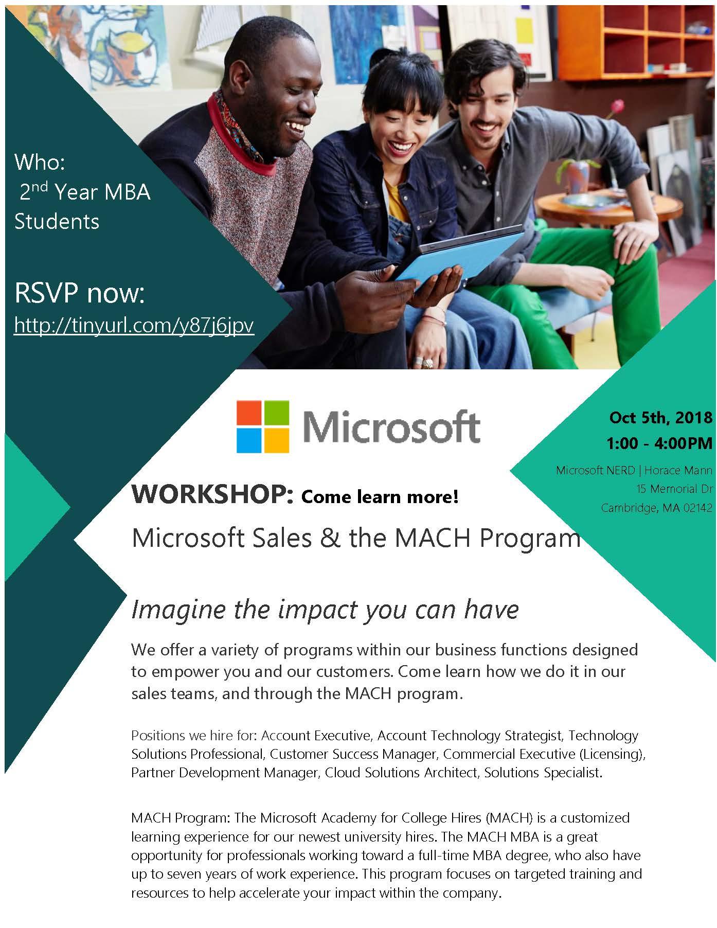 microsoft sales and mach program workshop feld center questrom