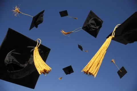 graduation-caps-thrown-in-air