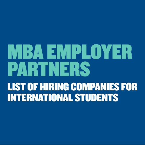 MBA Hiring Companies Class of 2019 – International Students