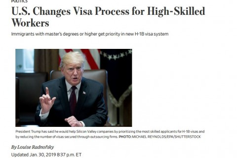 US Changes Visa Process for High Skilled Workers- Trump cover pic
