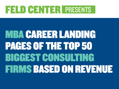 MBA Career Landing Pages of the Top 50 Biggest Consulting Firms Based on Revenue