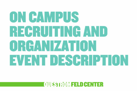 On-Campus Recruiting & Company Events
