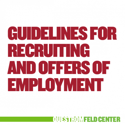 Recruiting and Offers of Employment Guidelines