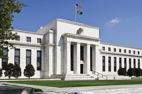 exterior of the Federal Reserve Building in Washington D.C.
