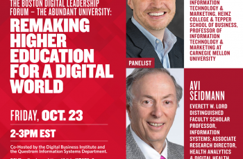 Insights@Questrom Live: The Boston Digital Leadership Forum - The Abundant University: Remaking Higher Education for a Digital World