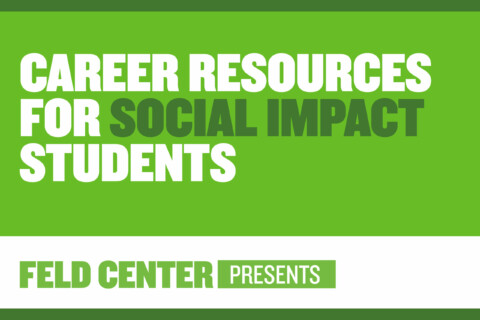 Career Resources for Social Impact Students Cover Image