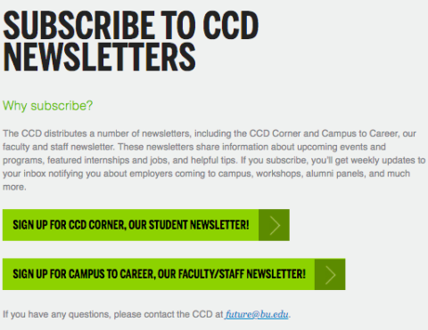 Subscribe to CCD Newsletters