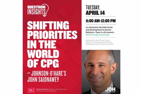 Recording – Questrom Insights: Shifting Priorities in the World of CPG – Johnson-O'Hare Virtual Session