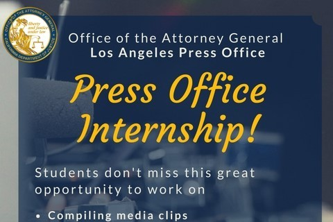 DOJ Internship Flyer