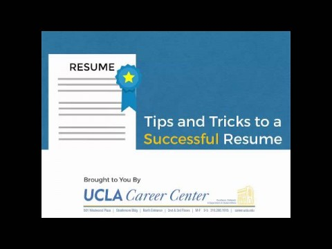 Resume Video Guide