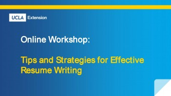 Effective Resume Writing Online Workshop
