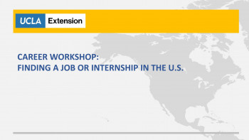 International Students Workshop: Finding a Job or Internship in the U.S.