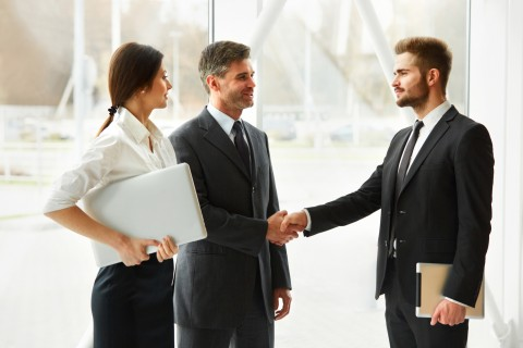 Business Partner Shaking Hands