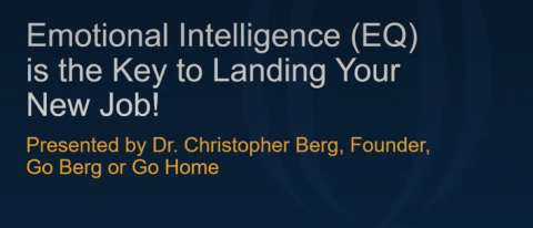 Webinar: Emotional Intelligence is the Key to Landing Your New Job!