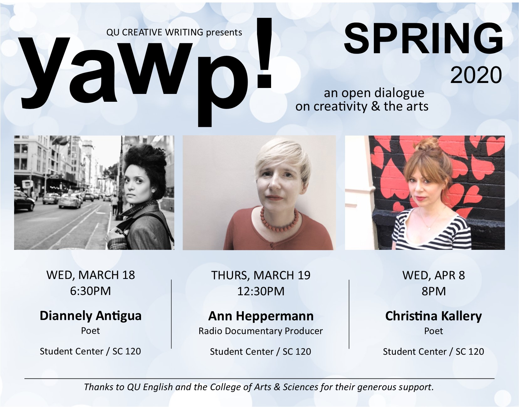 Spring YAWP! Series- an open dialogue on creativity & the arts thumbnail image