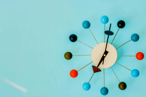 a vintage clock