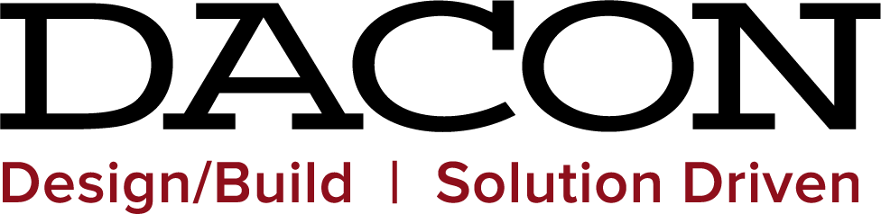 Dacon Construction logo. It reads: DACON Design/Build   Solution Driven