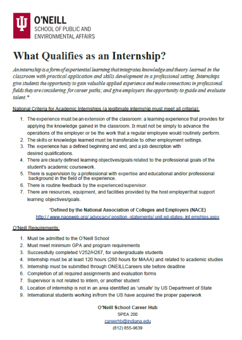 What Qualifies as an Internship?