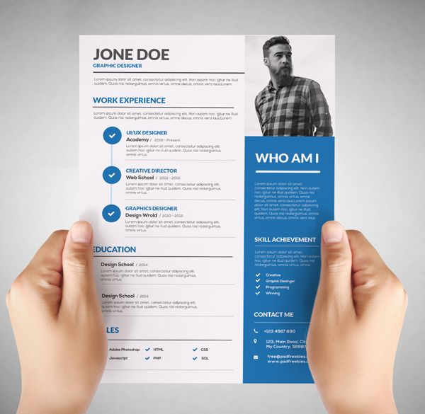 Graphic Design Resume: Failure or the Right Way to Get Hired ...