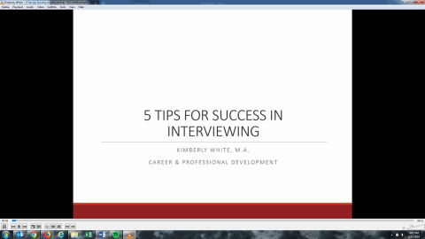 5 Tips for Success in Interviewing