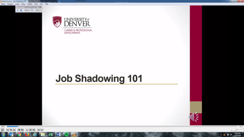 Job Shadowing 101