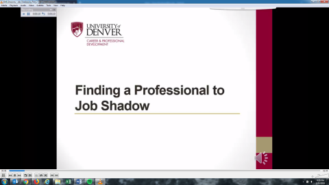 Finding a Professional to Job Shadow