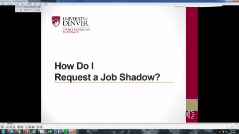 How Do I Request a Job Shadow