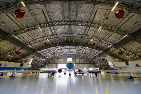 Airplane hanger