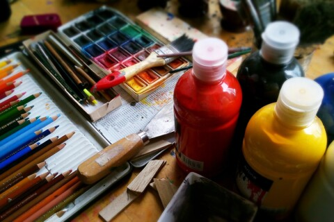 Paint and art supplies