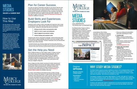 Media Studies Major to Career Map