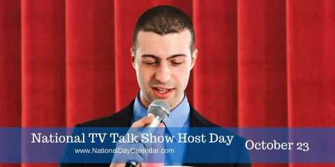 National tv talk show host day