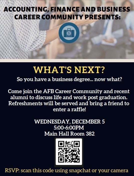 Accounting Finance And Business Afb Community Alumni Event