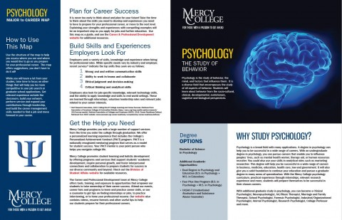 Psychology Major to Career Map