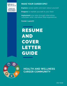 Health and Wellness Resume and Cover Letter Guide