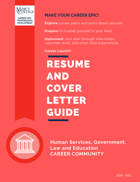 Human Services, Government, Law and Education Resume and Cover Letter Guide