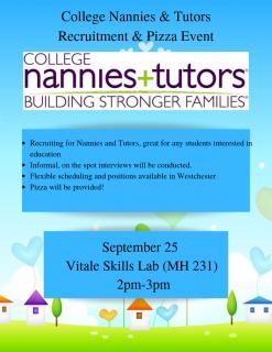 College Nannies + Tutors Event