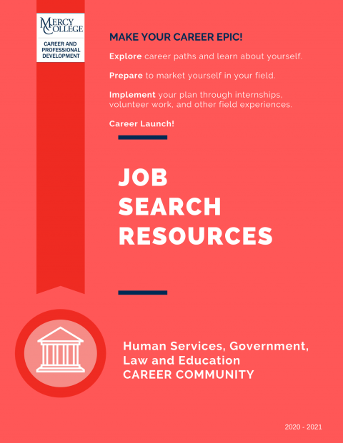Human Services, Government, Law and Education Job Search Resource