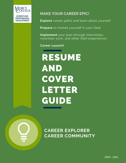 Career Explorer Resume and Cover Letter Guide